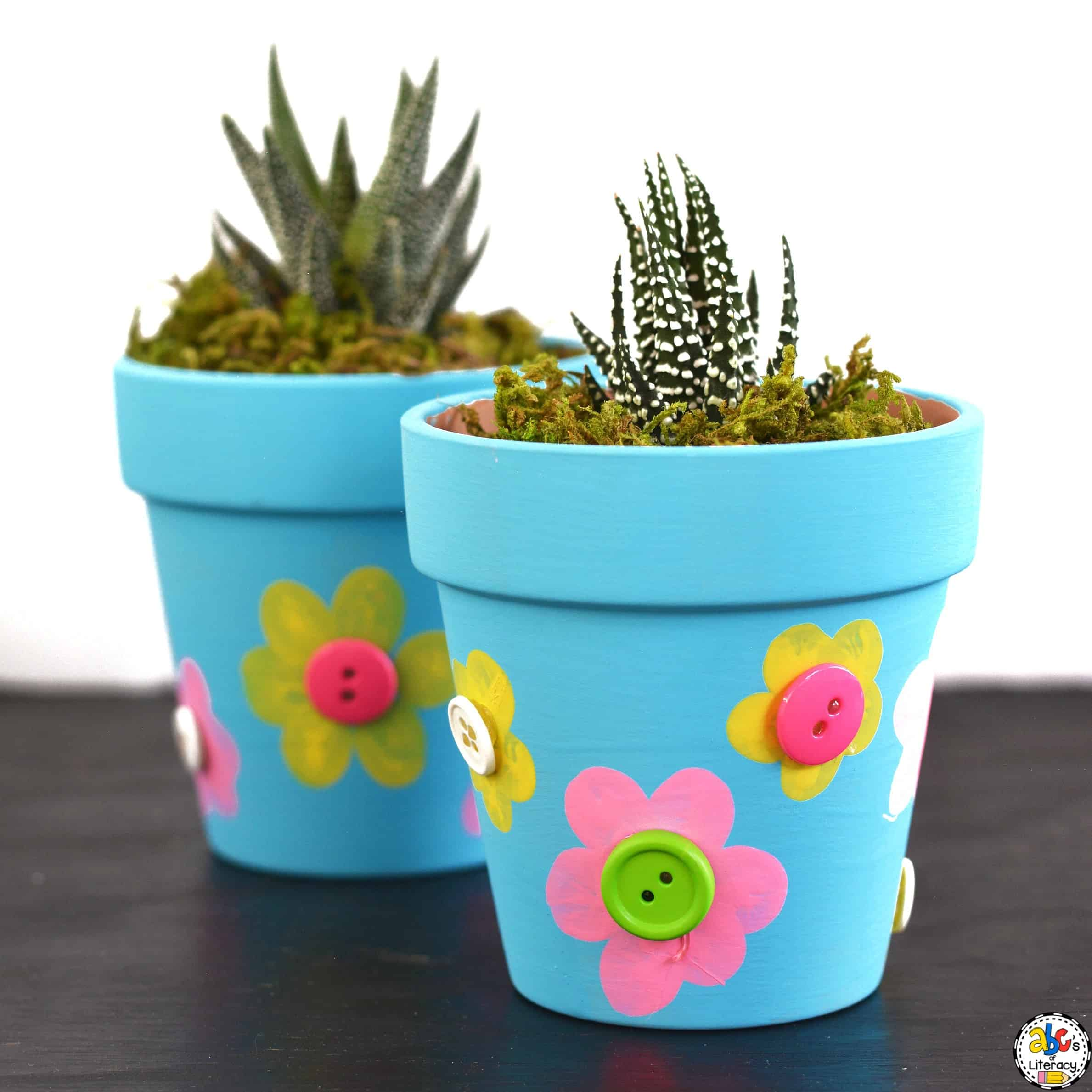 Fingerprint Flowerpot Craft