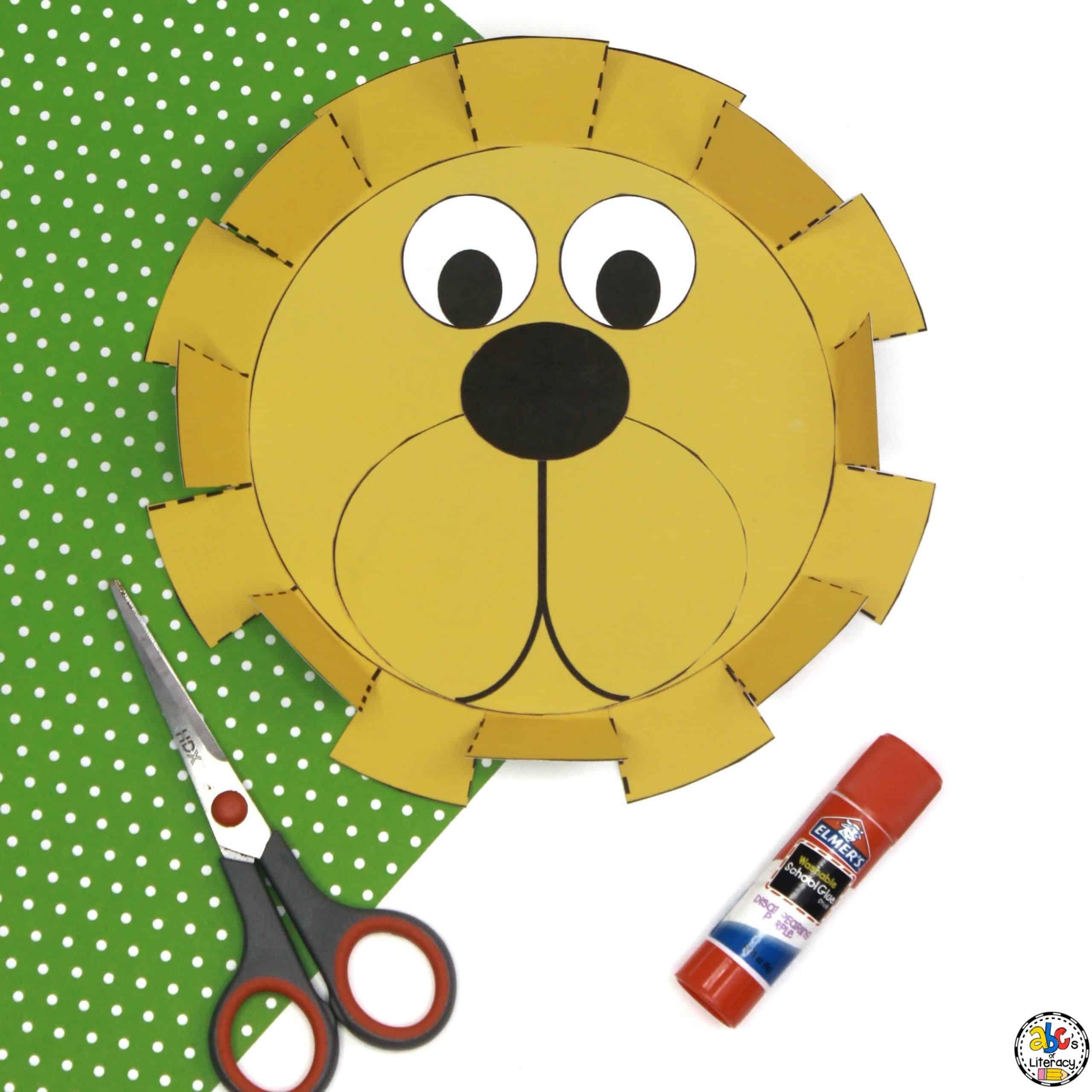 Lion's Mane Cutting Activity