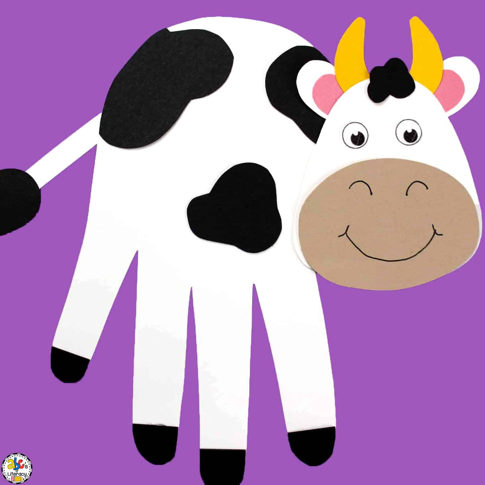 Hand Print Cow Craft