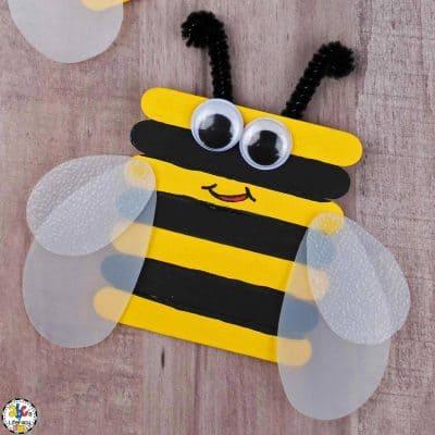 Craft Stick Bumble Bee Craft