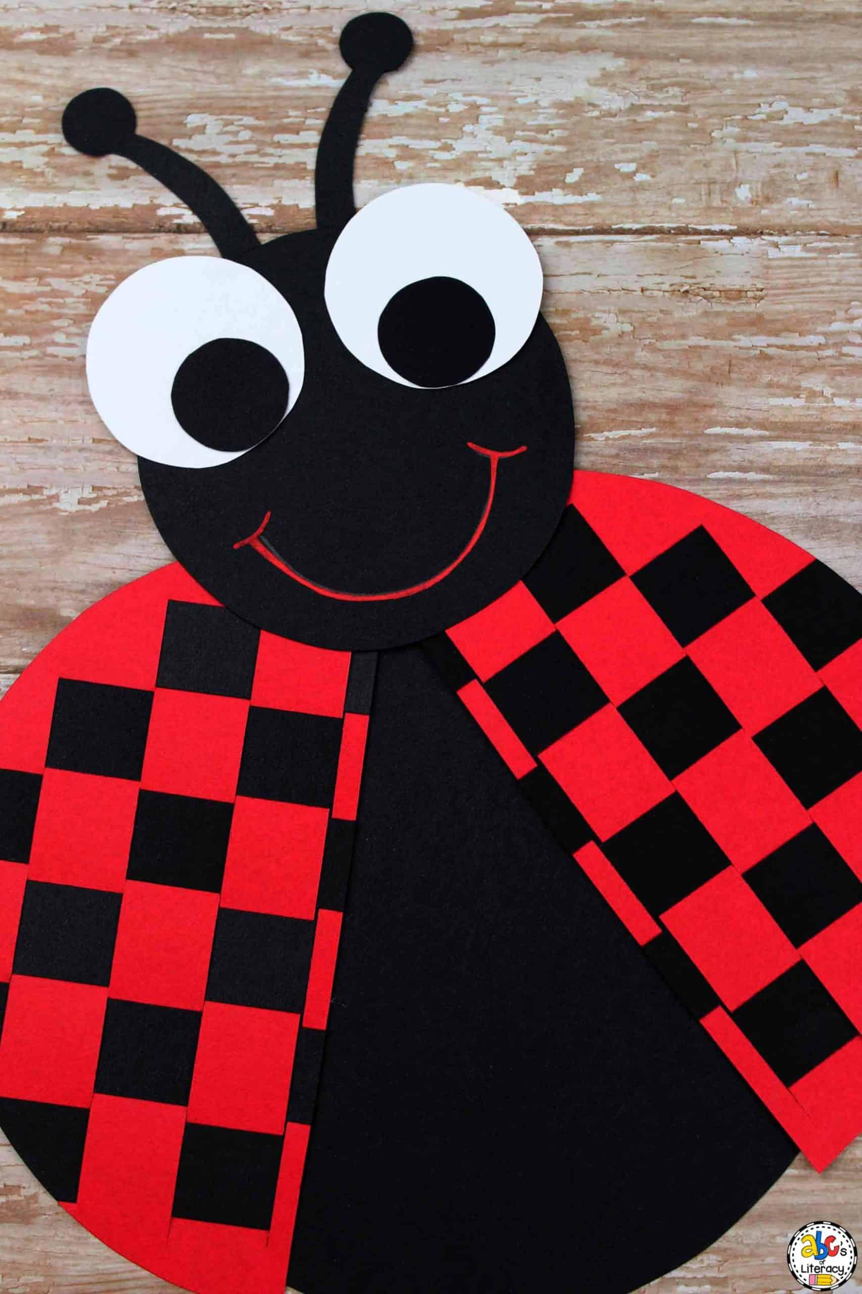 Paper Weaving Ladybug Craft for Kids