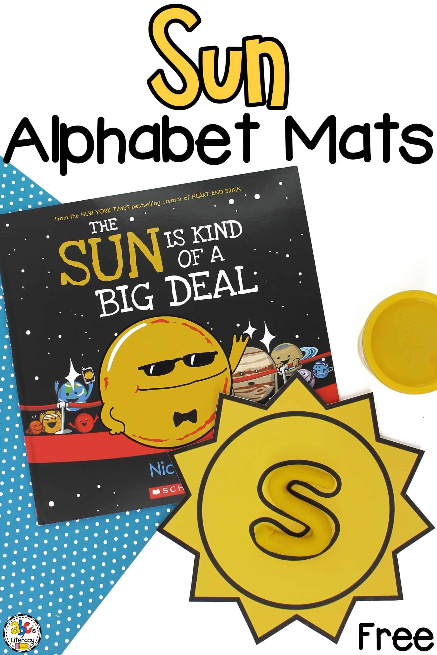 Sun Alphabet Play Dough Mats