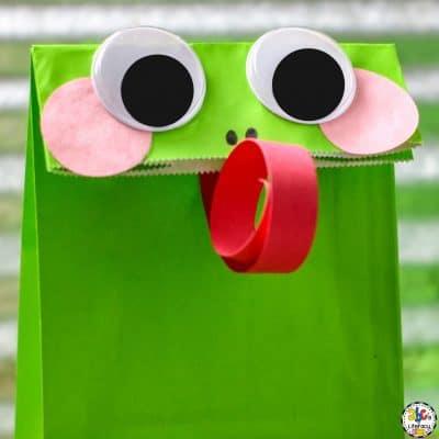 Paper Bag Frog Craft For Kids