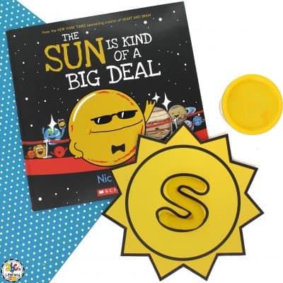 Sun Alphabet Play Dough Mats