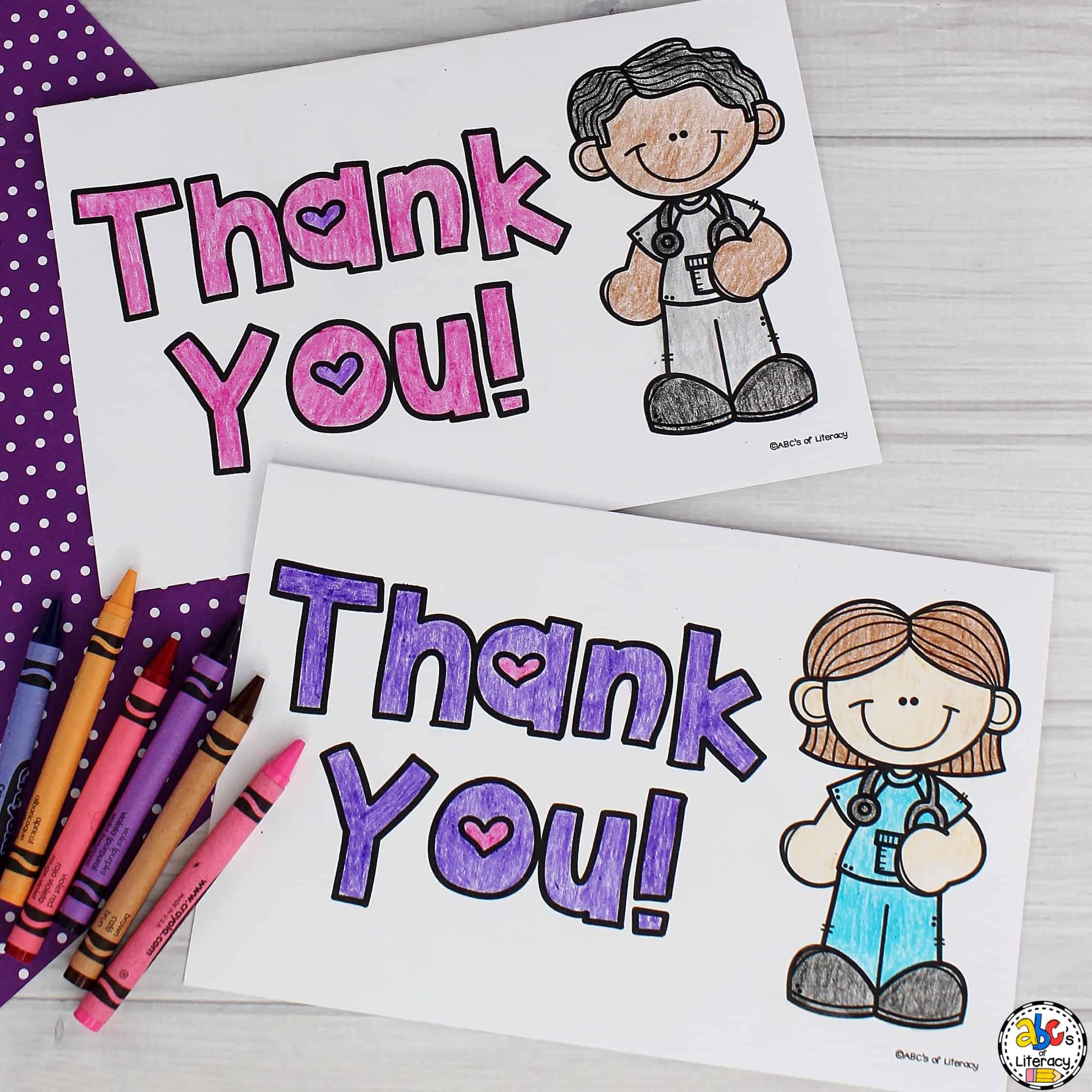 Thank you card for nurses