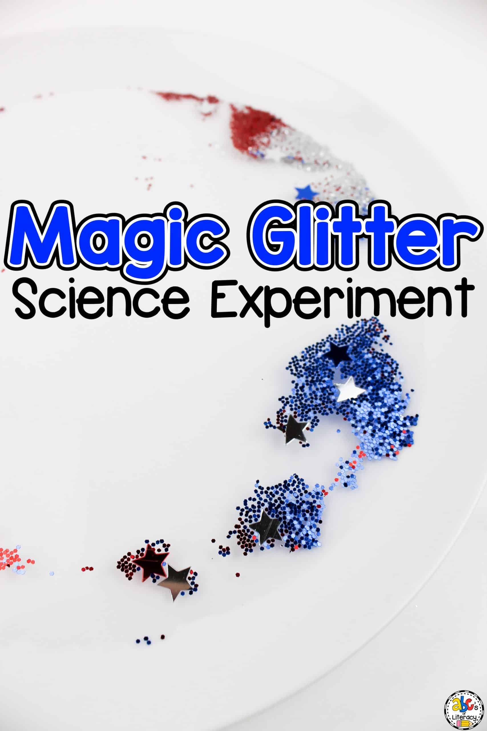 Magic Glitter Science Experiment