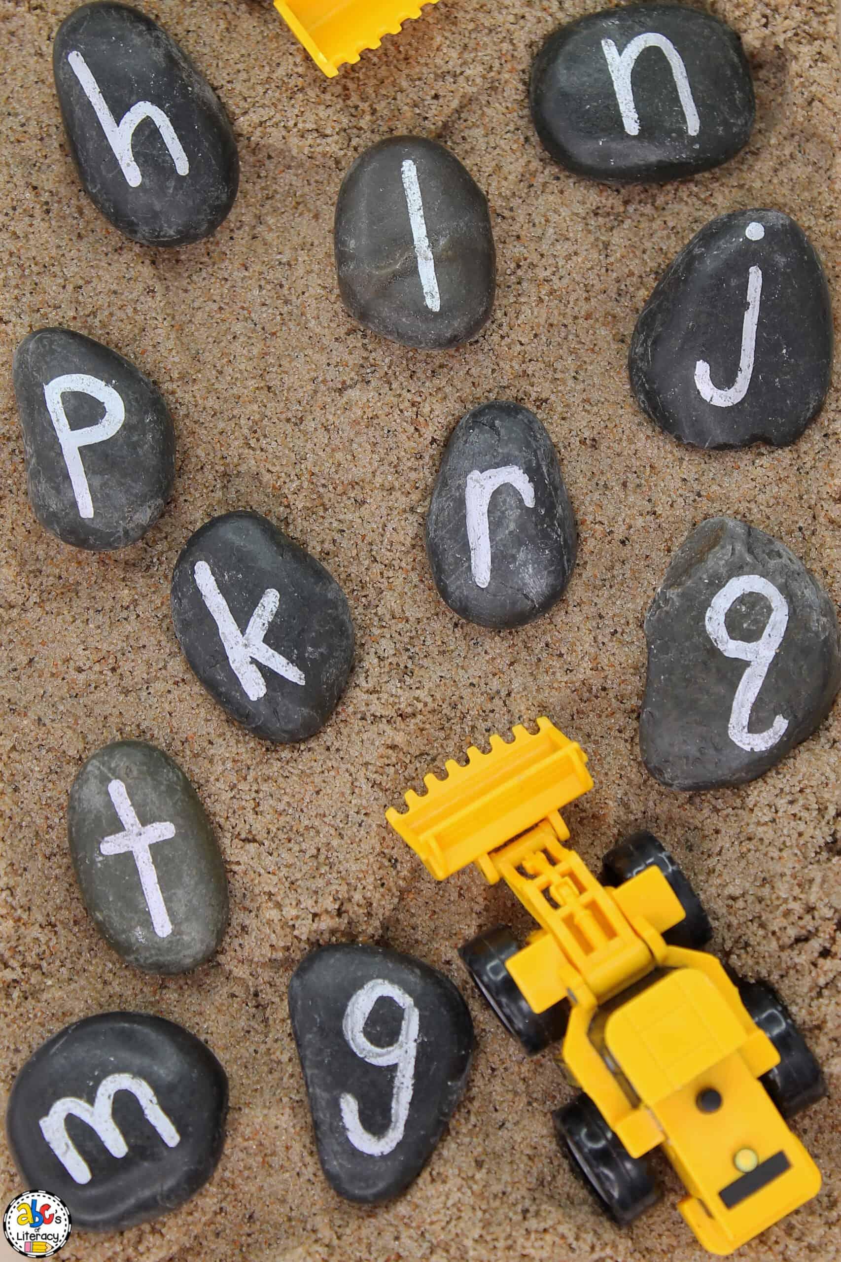 Construction Alphabet Sensory Bin