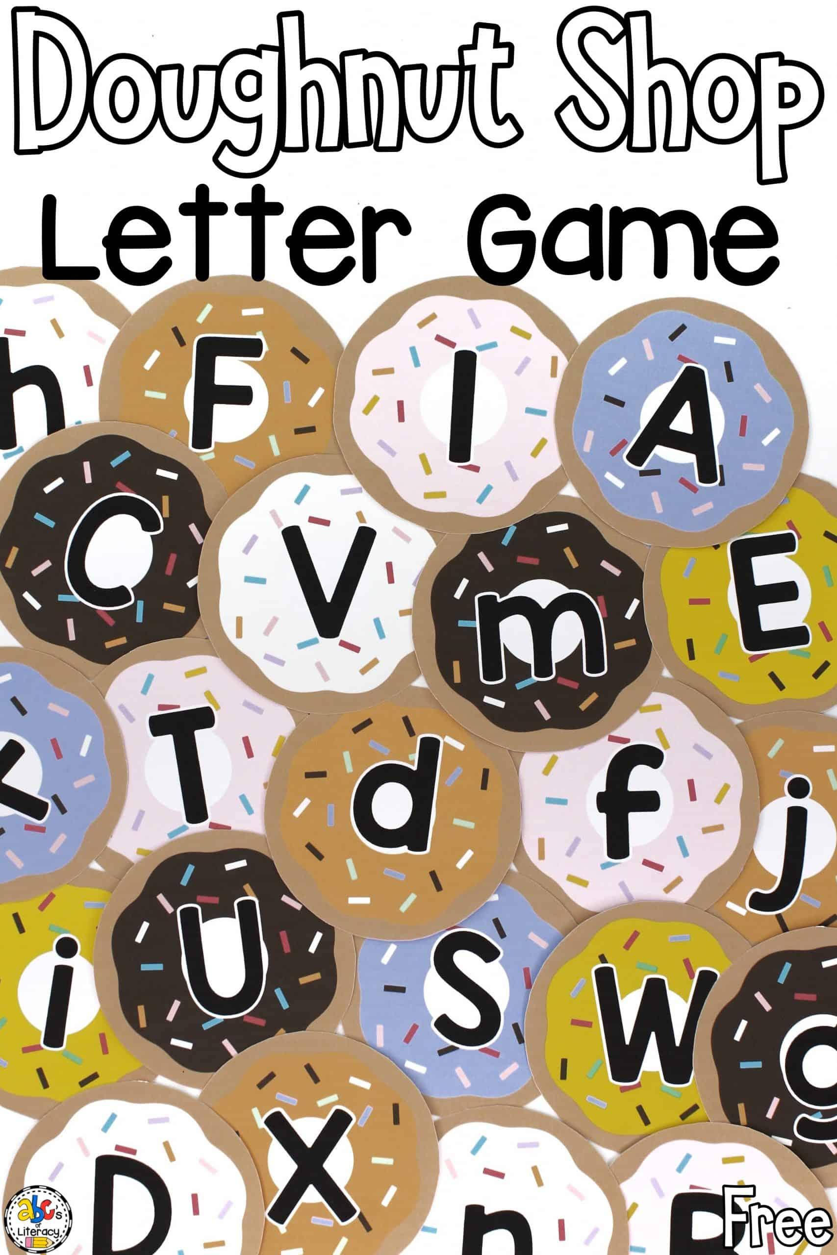 Doughnut Shop Letter Game