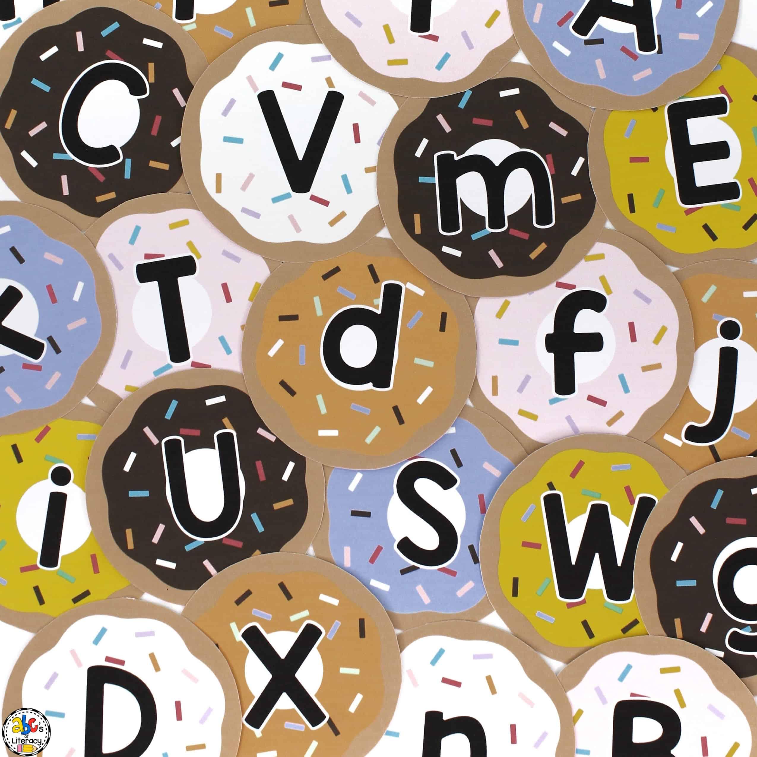 Doughnut Shop Letter Recognition Game