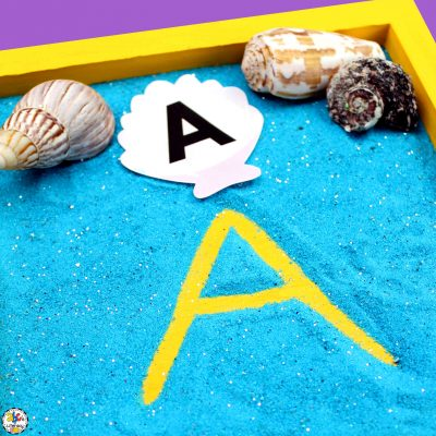 Seashell Alphabet Writing Tray