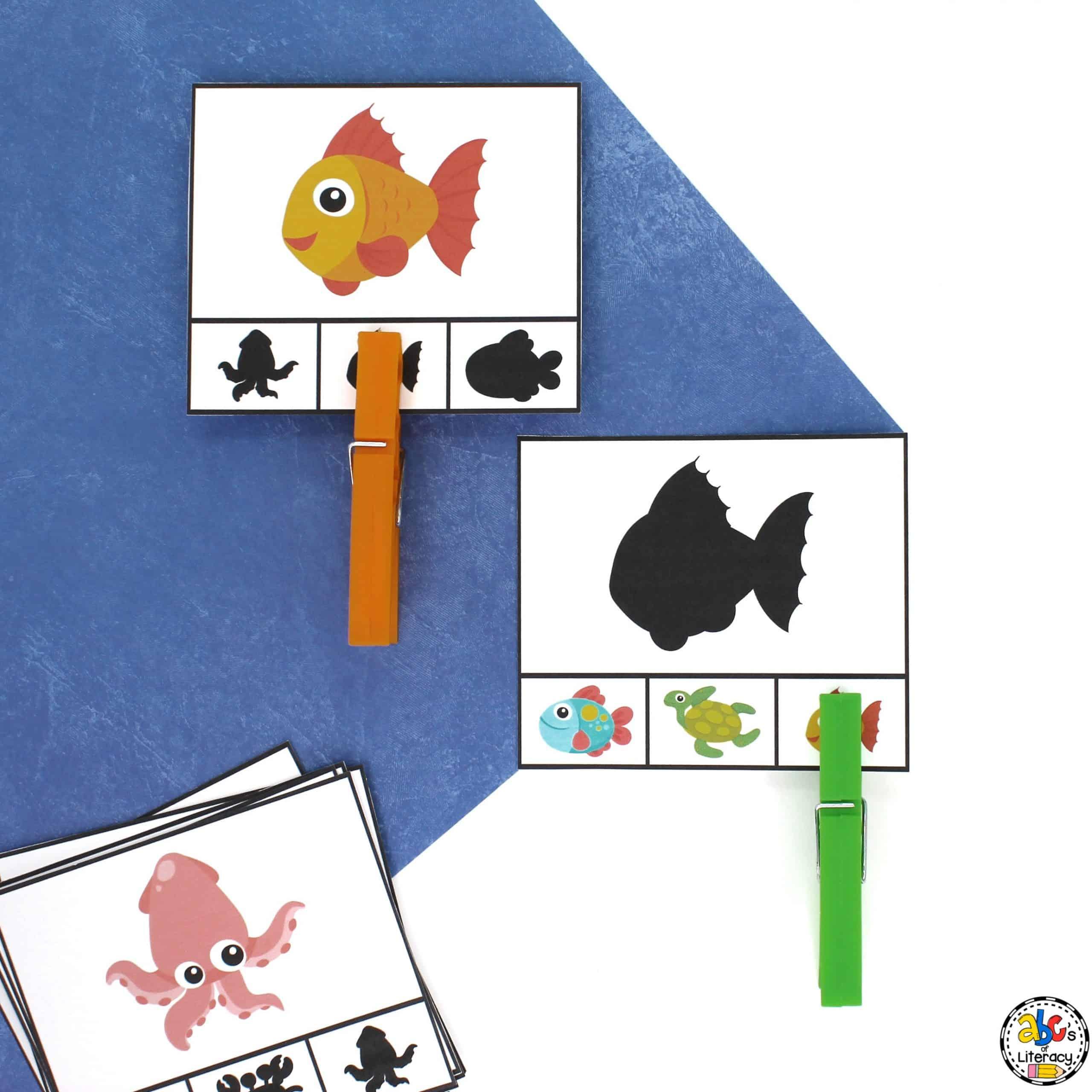 Ocean Visual Discrimination Clip Cards