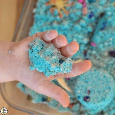 Ocean Moon Sand Sensory Bin