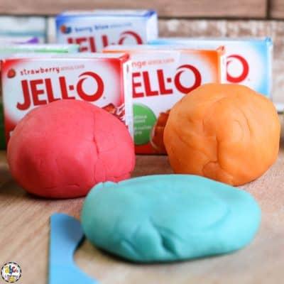 Jello Play Dough for Sensory Play