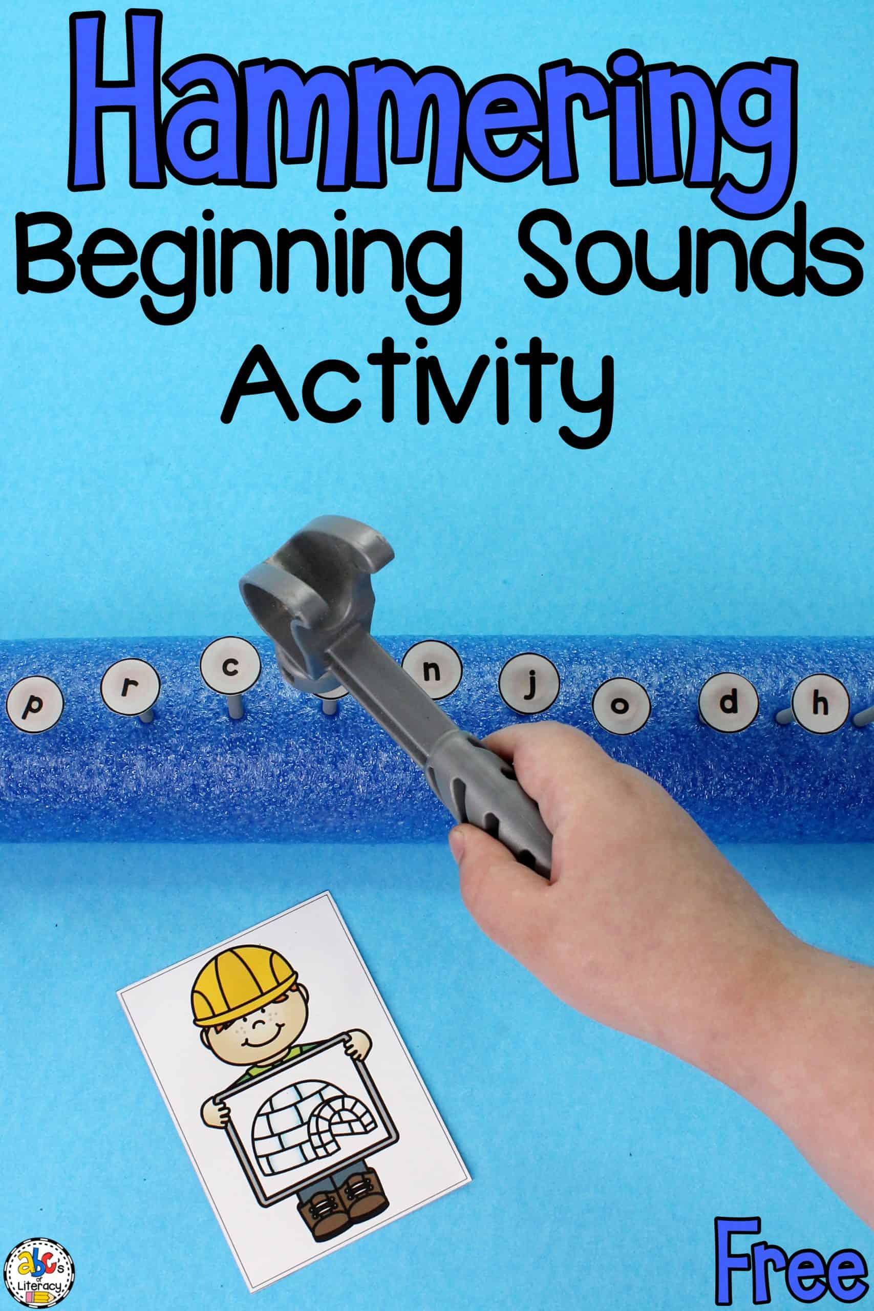 Hammering Beginning Sounds Activity