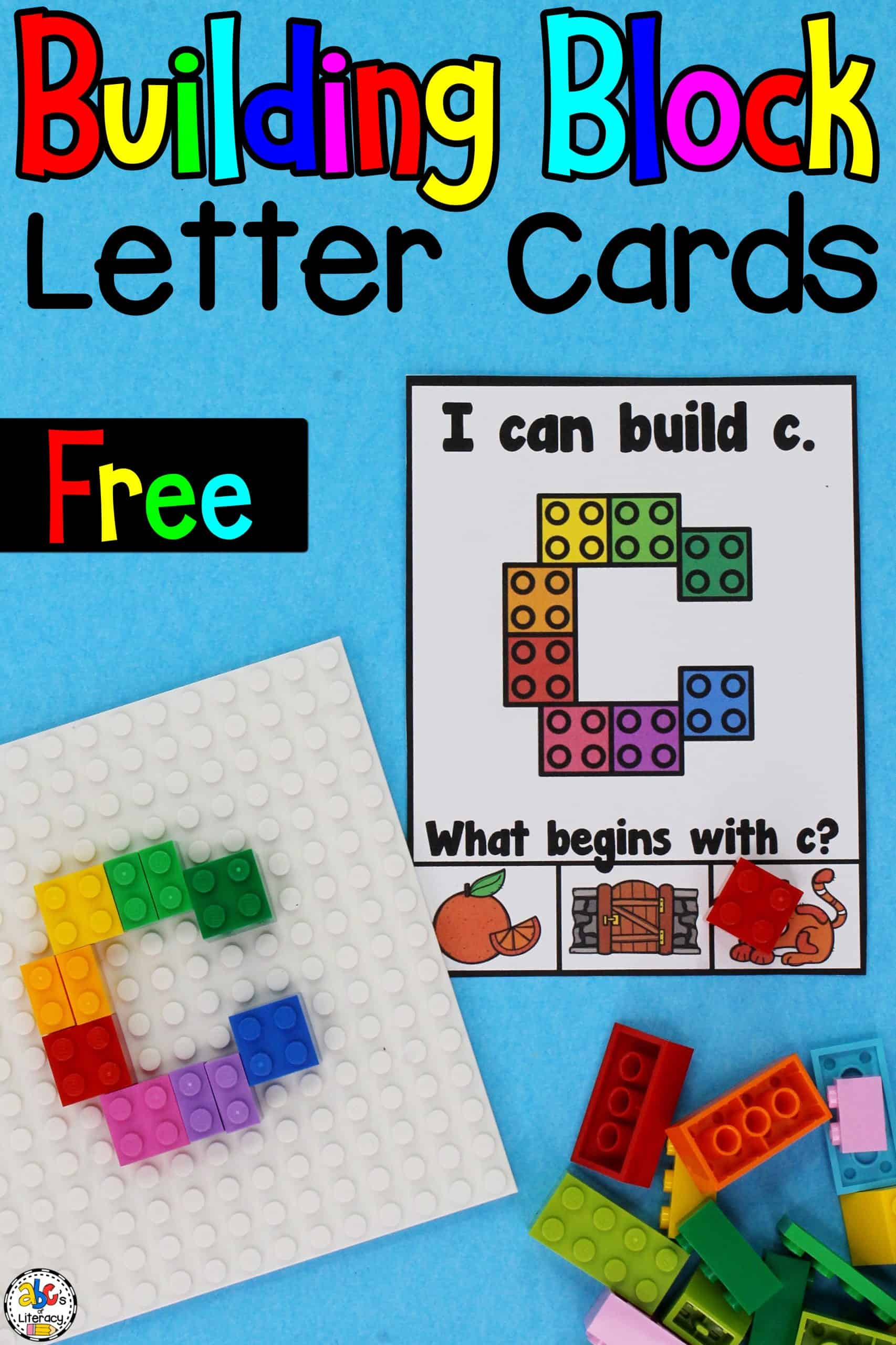 Building Blocks Lowercase Letter Cards