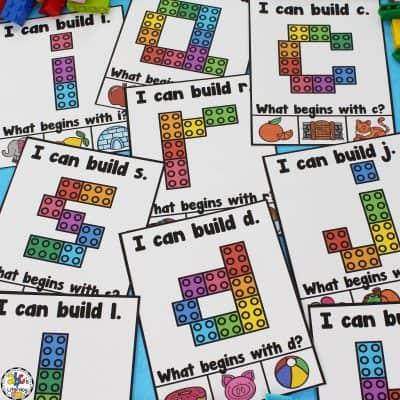 Building Blocks Lowercase Letter Cards