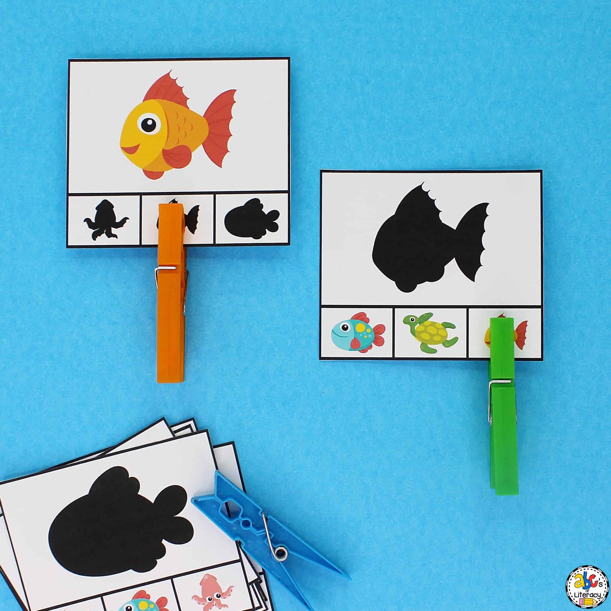 Visual Discrimination Clip Cards