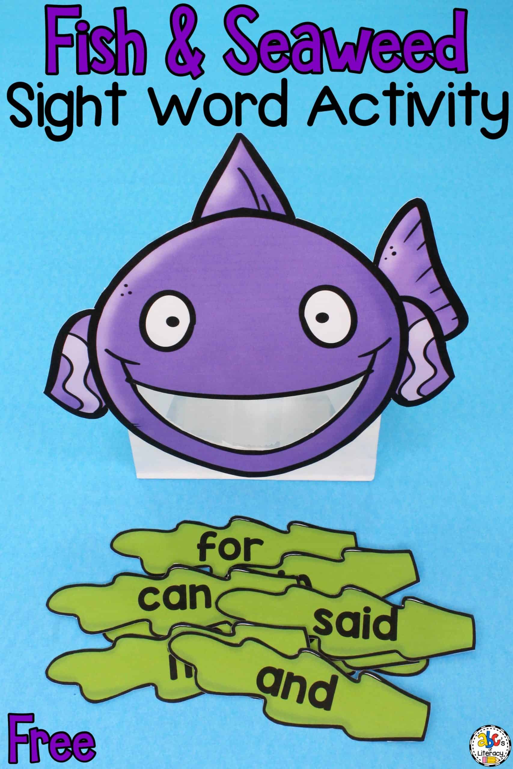 Fish & Seaweed Sight Word Activity