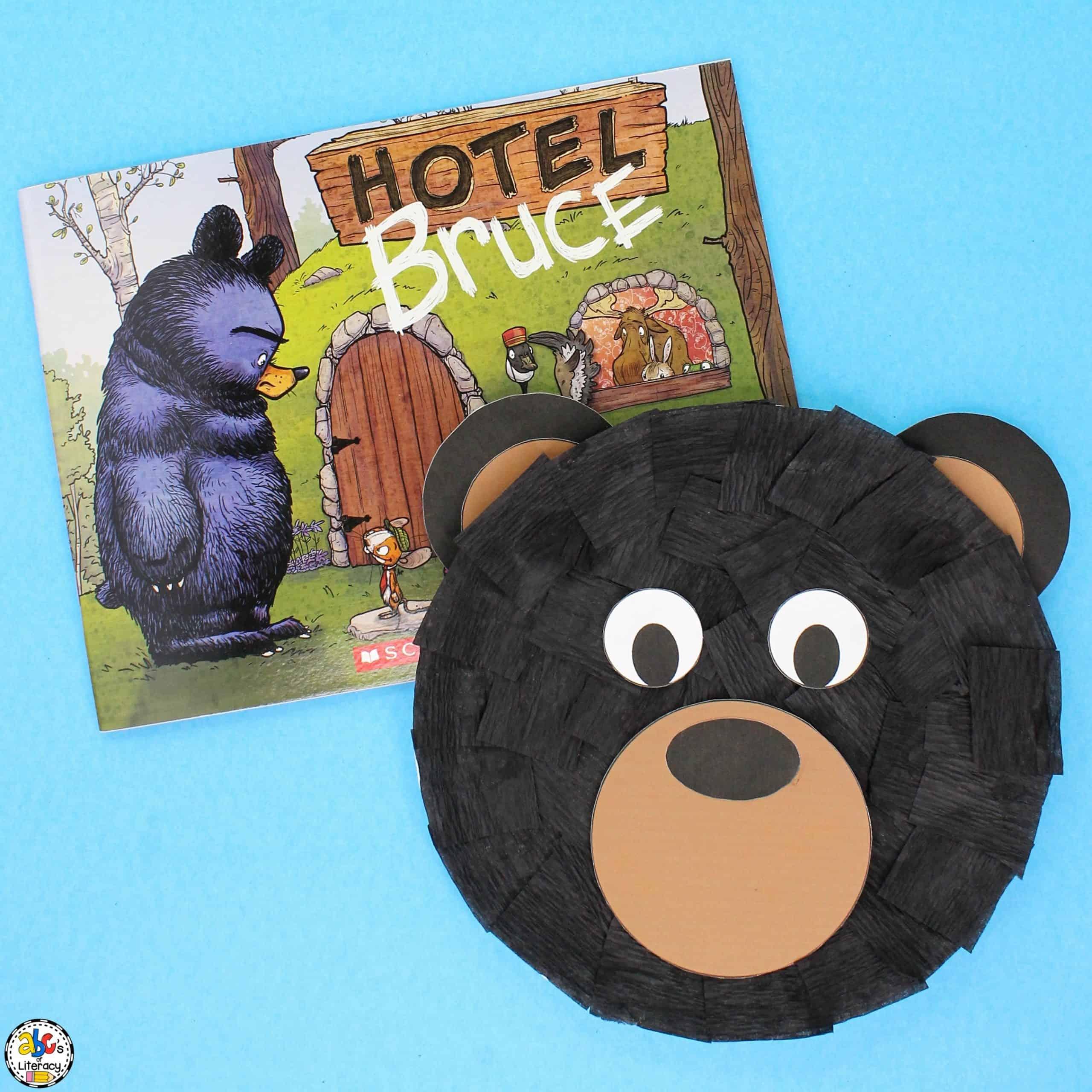 Black Bear Paper Plate Craft