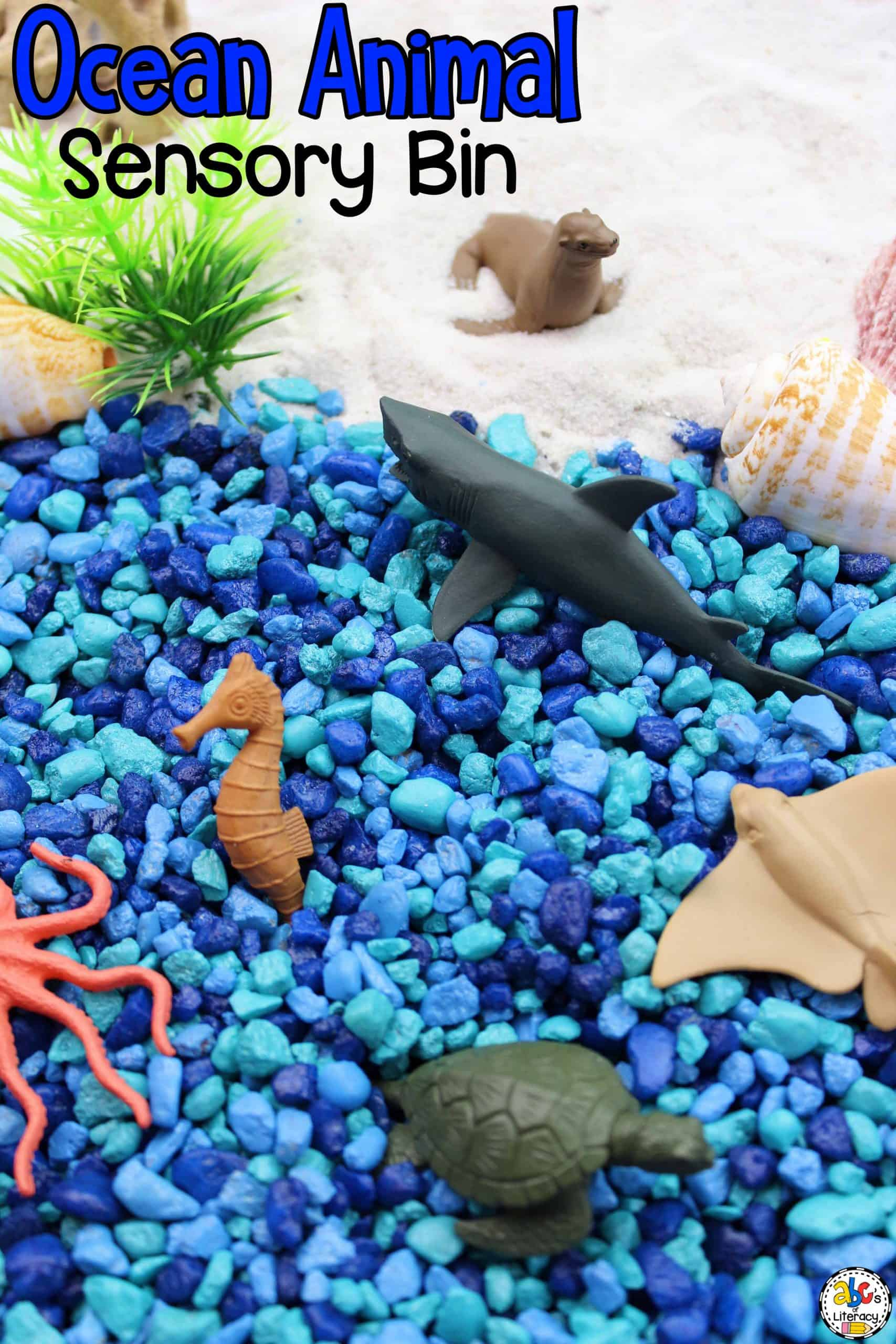 Ocean Animal Sensory Bin for Sensory Play