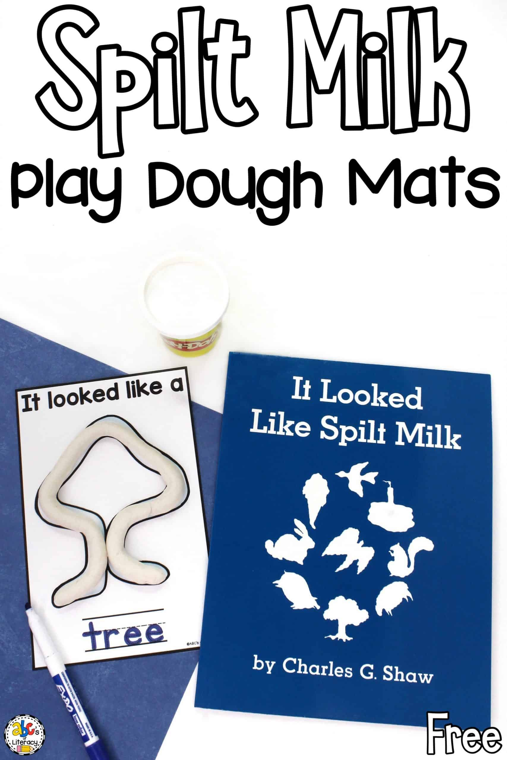 Spilt Milk Play Dough Mats