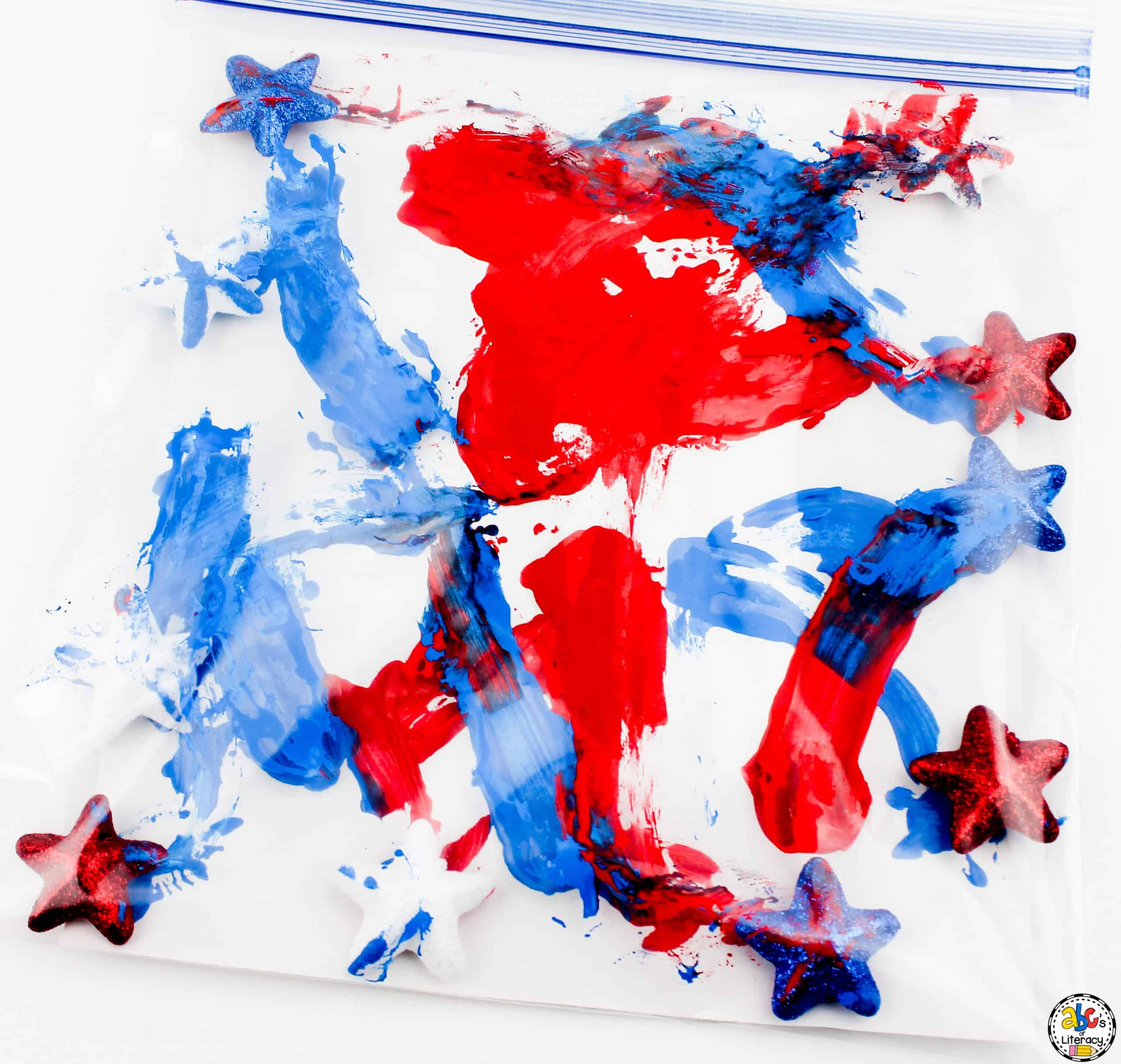 4th of July Sensory Painting