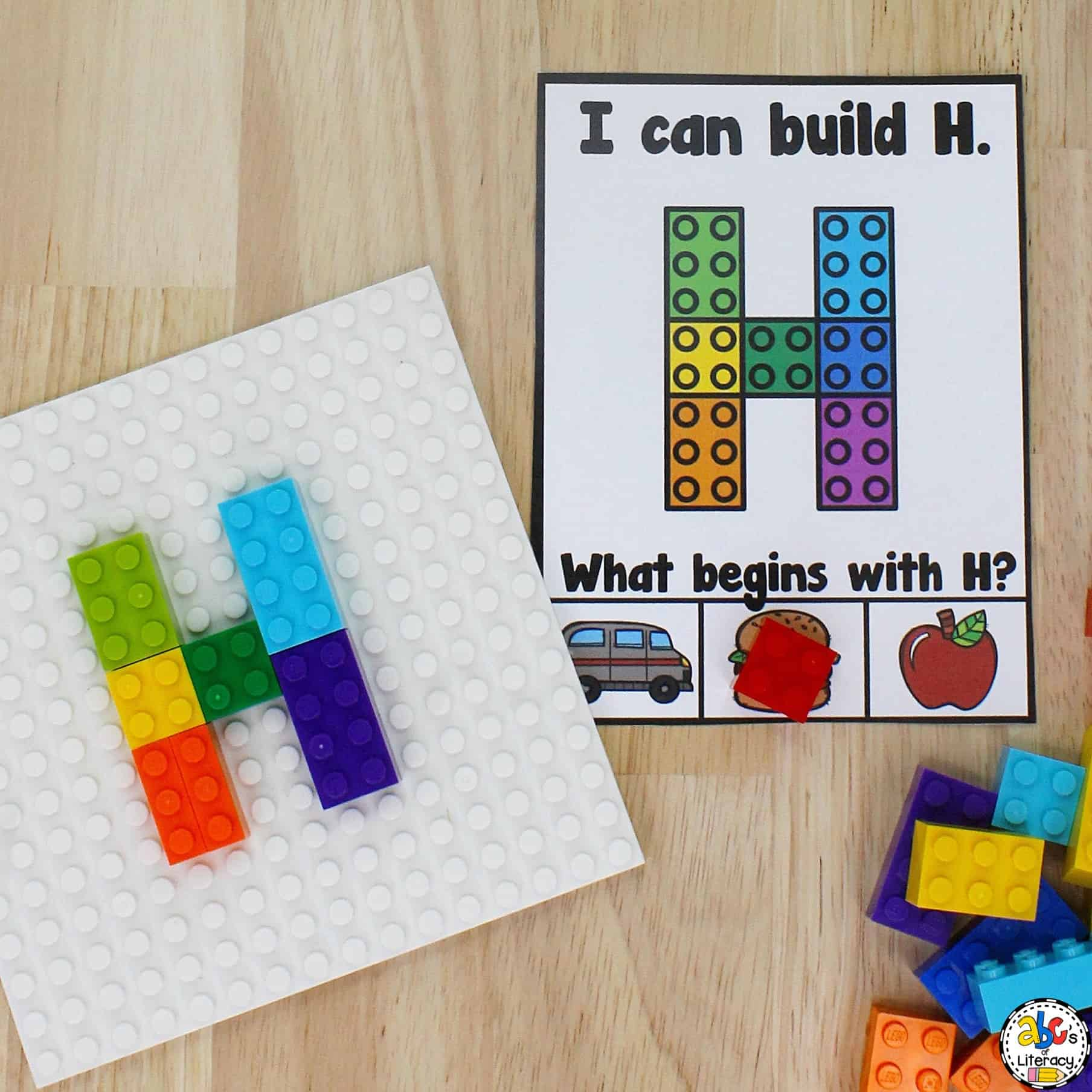 Building Blocks Capital Letter Cards