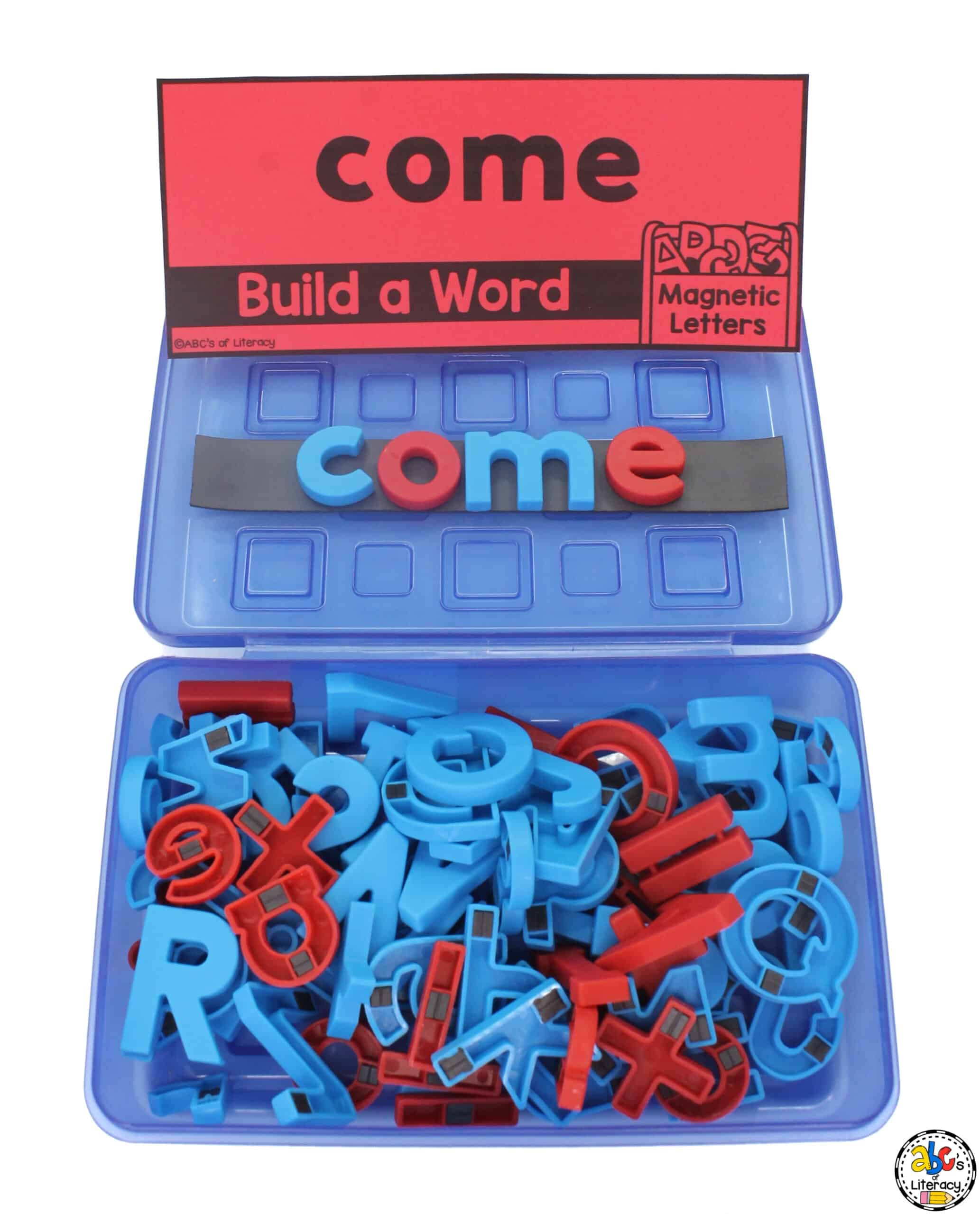 Magnetic Letter Sight Word Box