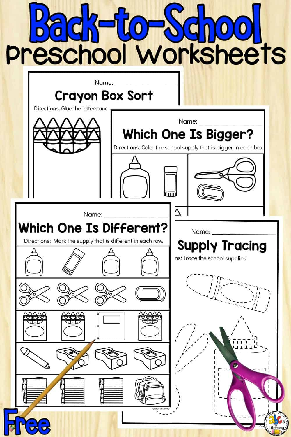 Back-to-School Preschool Worksheets