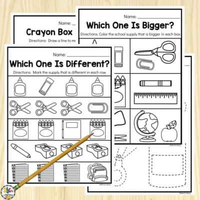 Back-to-School Preschool Worksheets