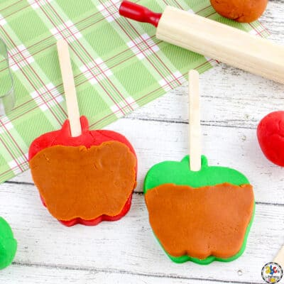 Caramel Apple Play Dough