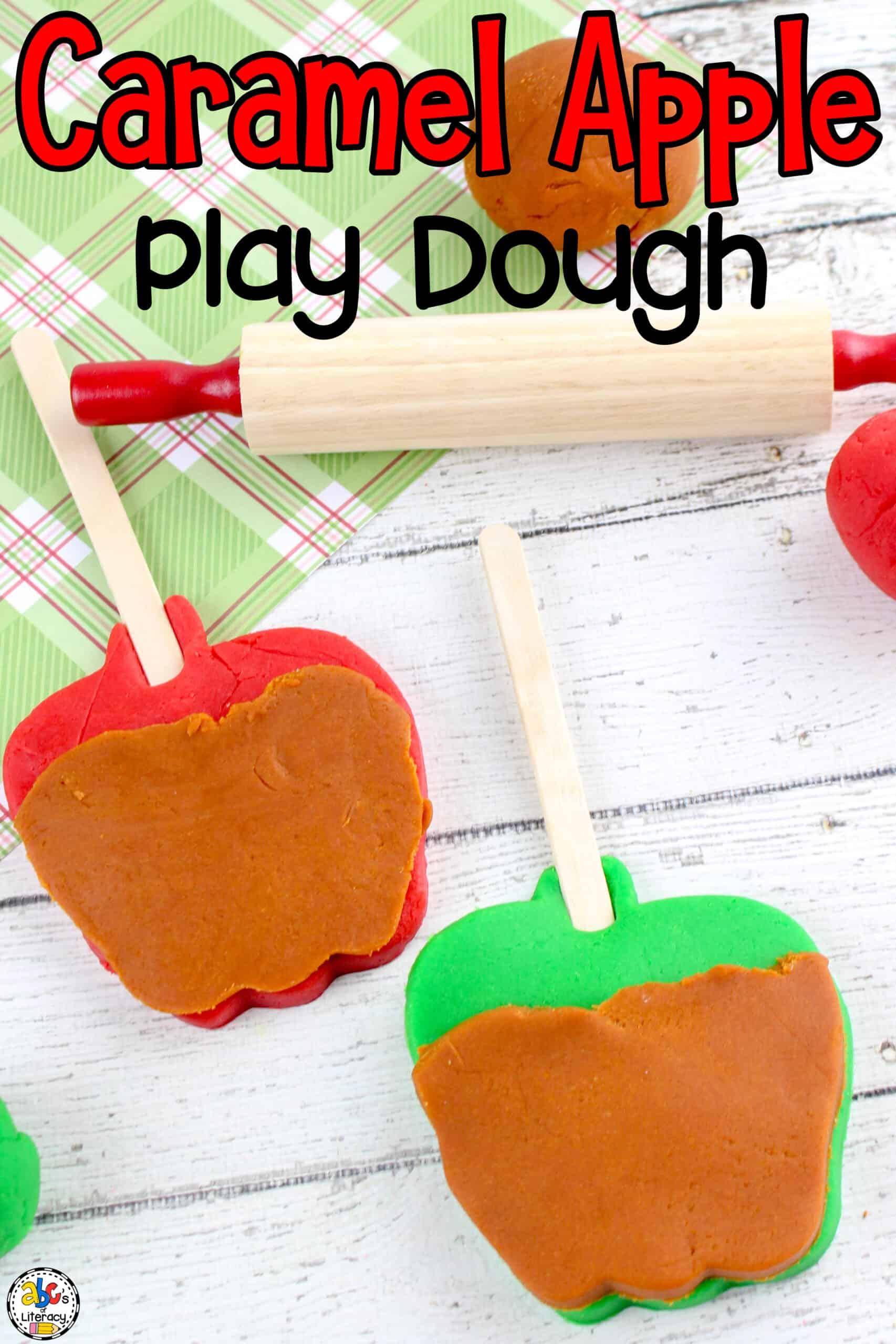 Caramel Apple Play Dough