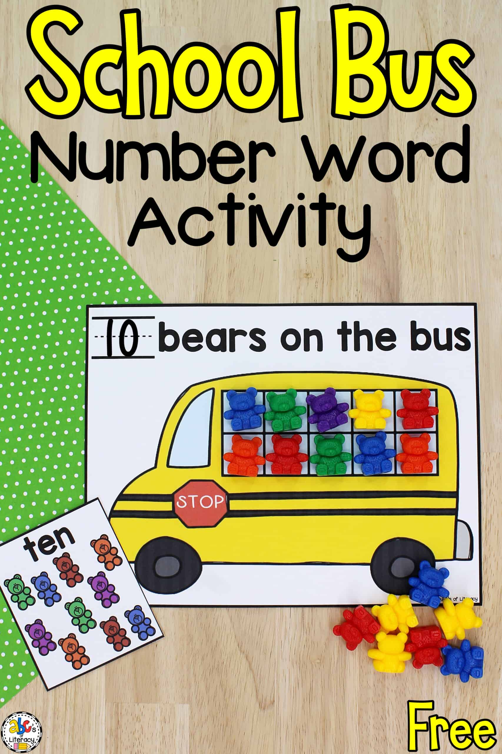 Reading Number Words Activity