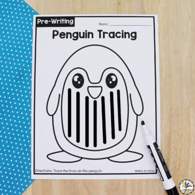 Penguin Tracing Worksheets