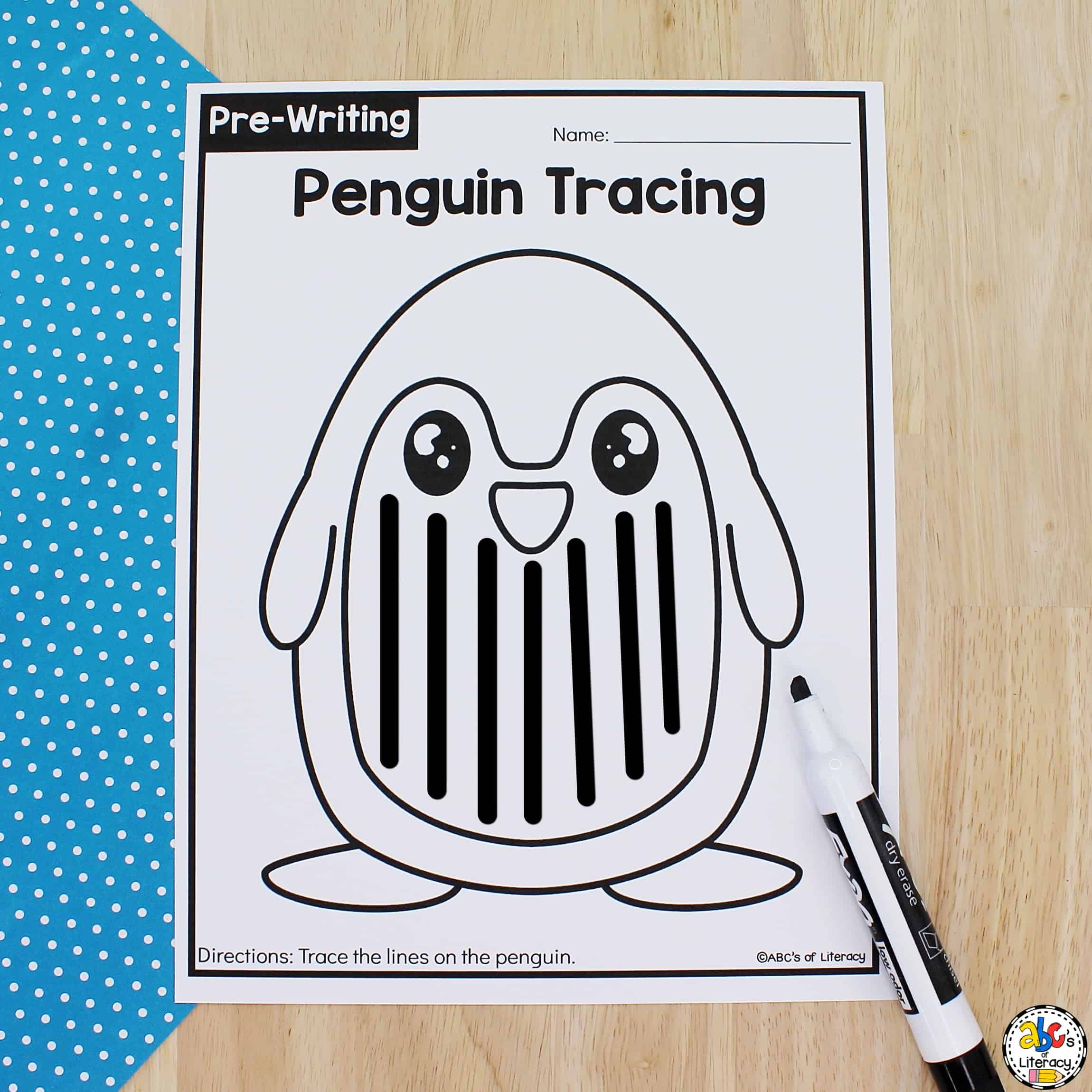 Penguin Tracing Worksheets