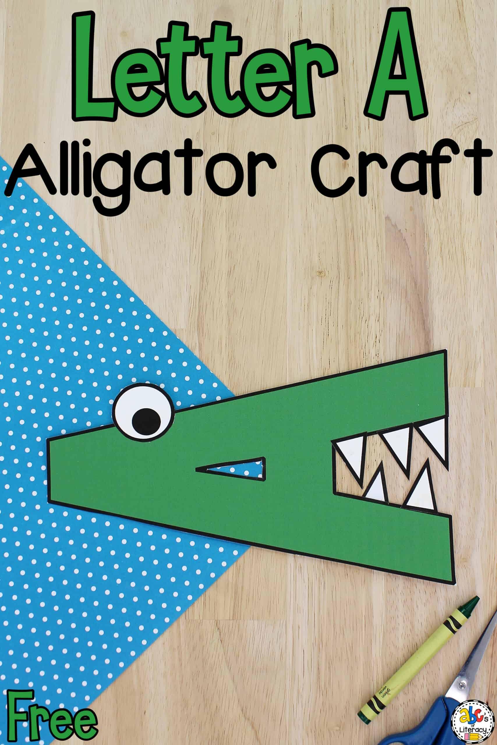 Letter A Alligator Craft