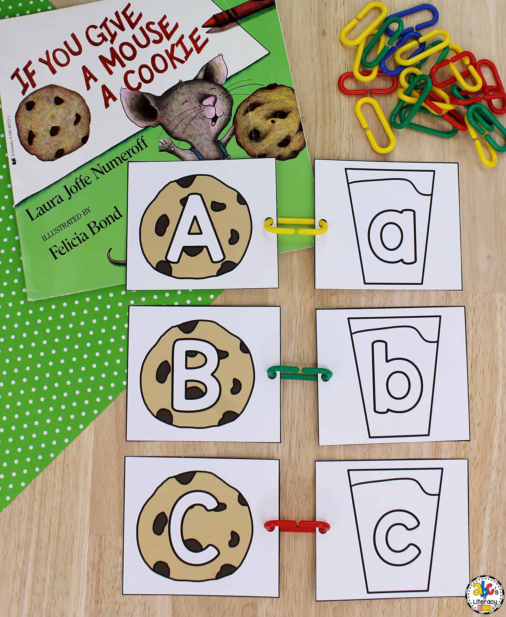 Cookie & Milk Letter Match Activity