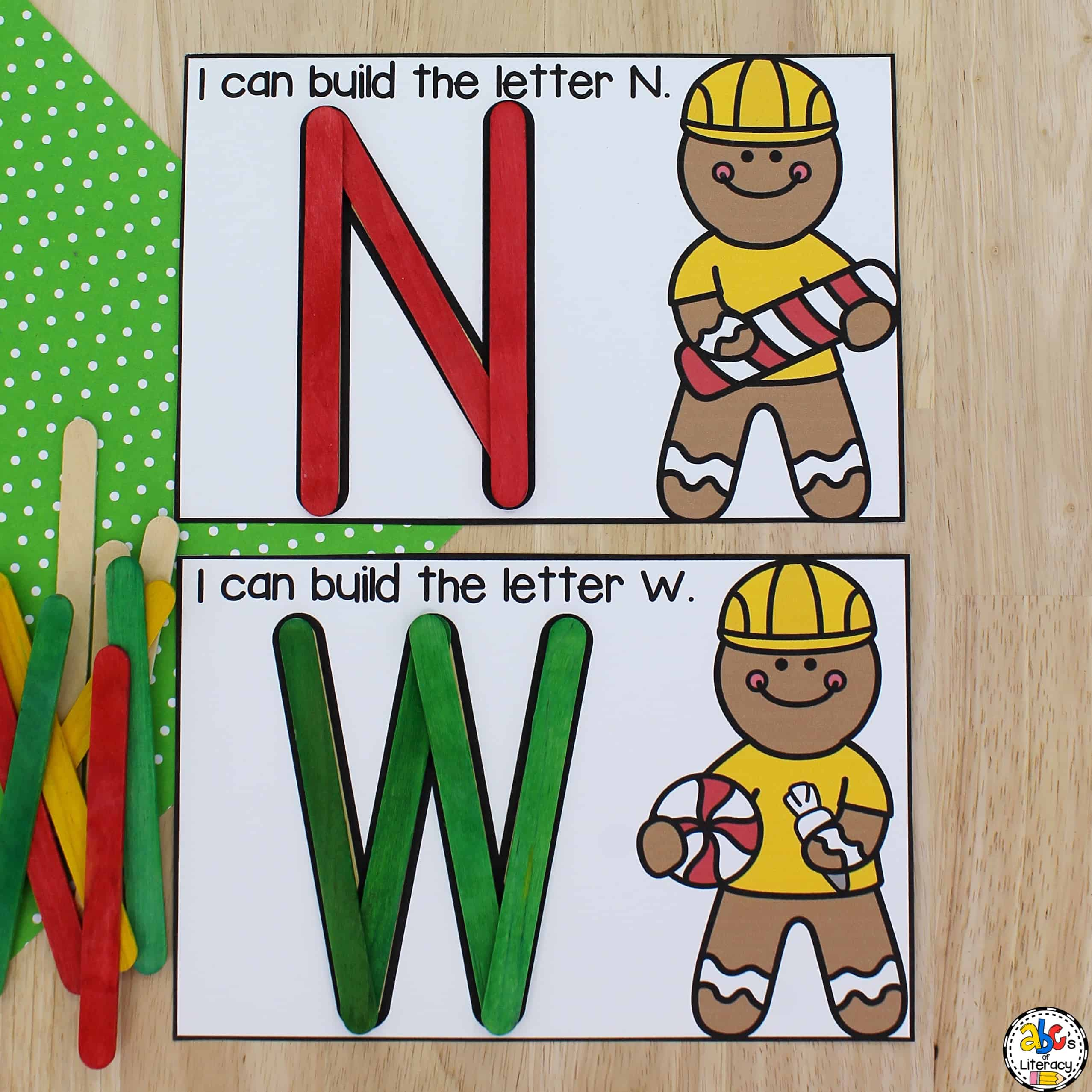 Gingerbread Man Building Letters Activity