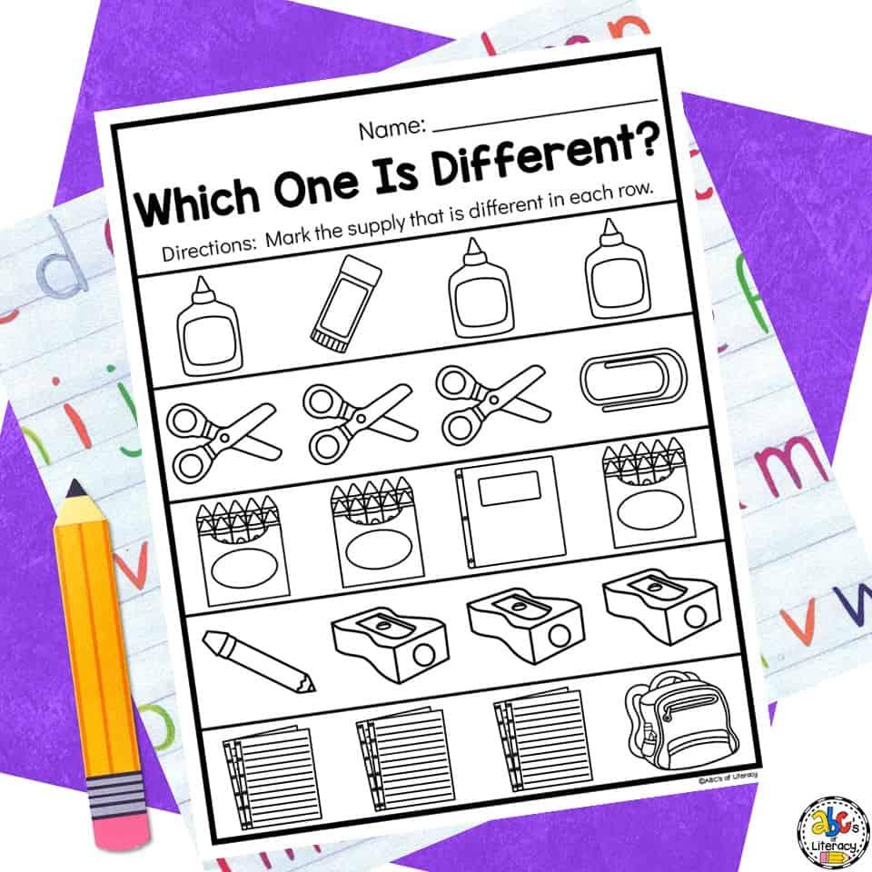 School Worksheets for Preschool