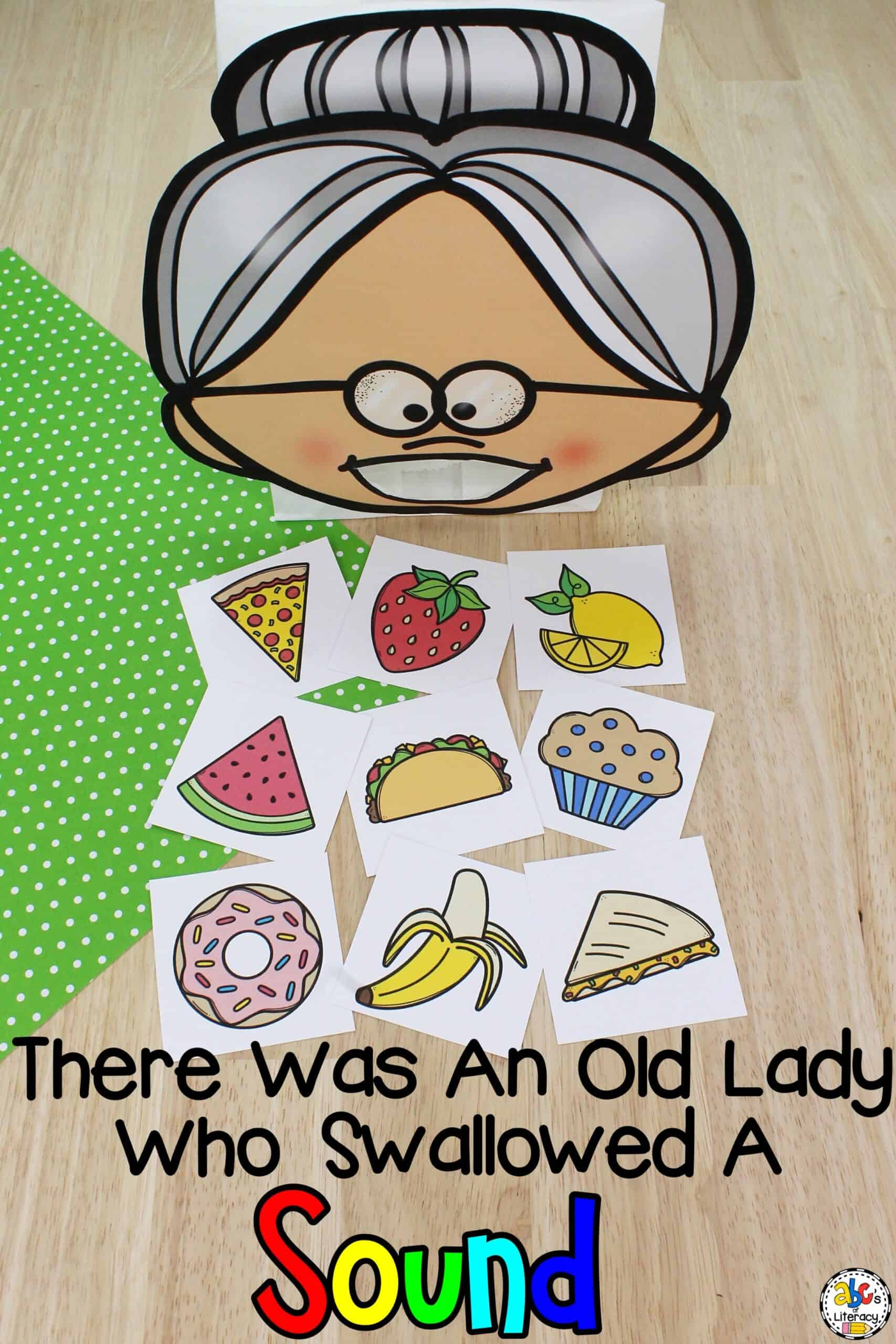 There Was An Old Lady Who Swallowed A Beginning Sound Activity