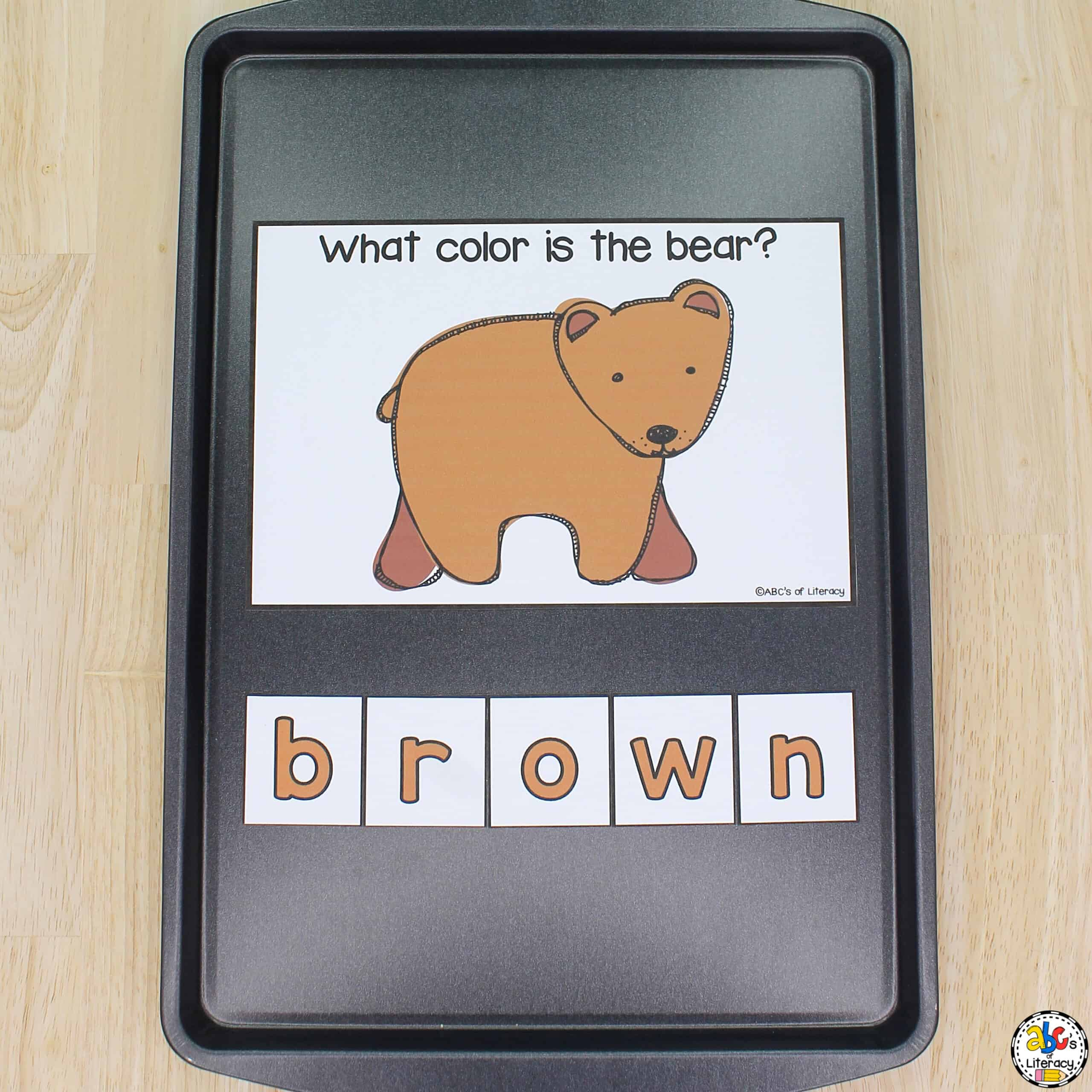 Brown Bear Magnetic Letters Activity