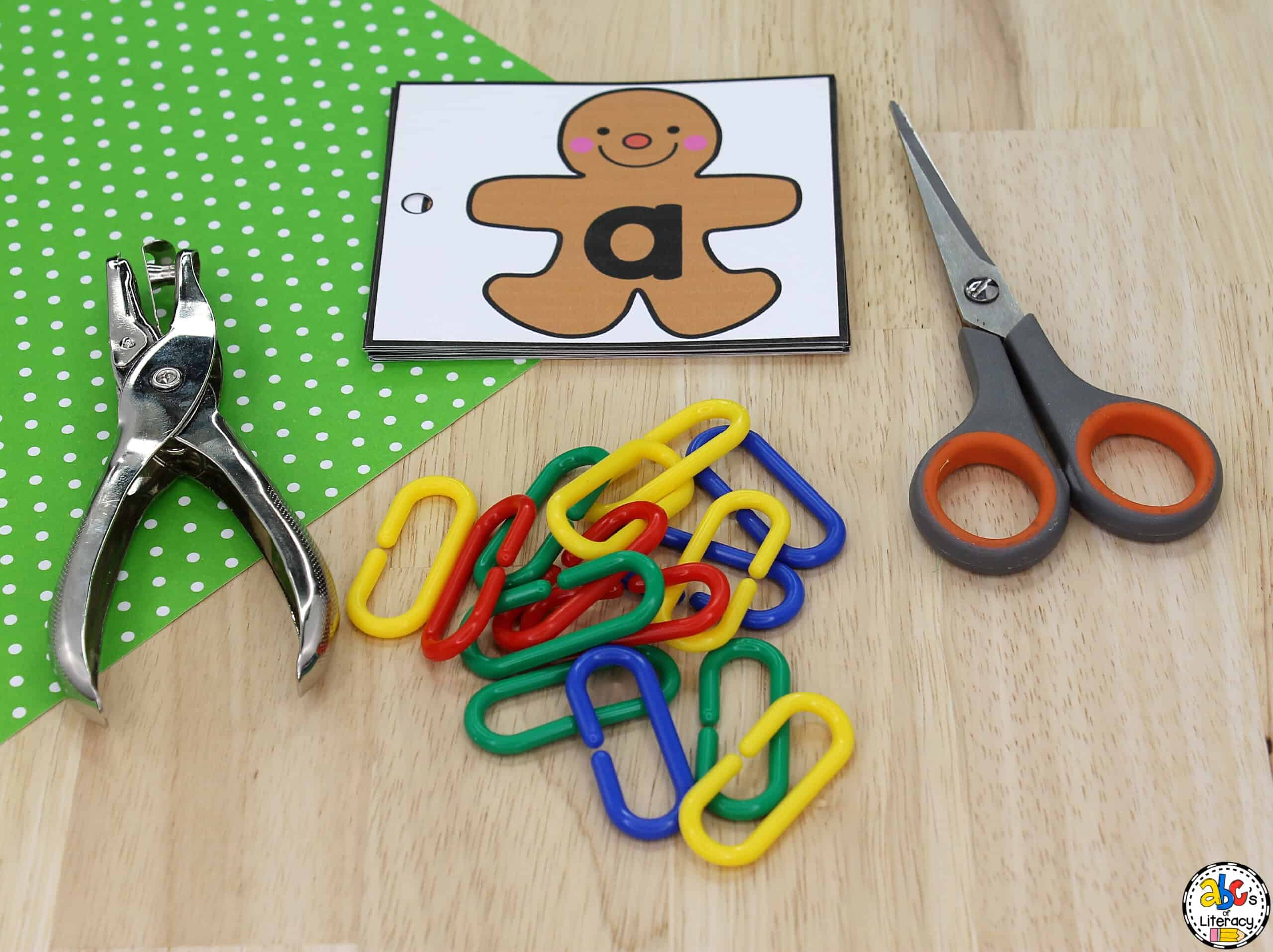 Gingerbread Man Letter Match Activity