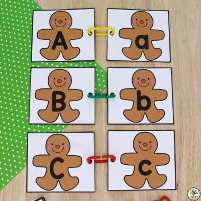 Gingerbread Man Letter Match