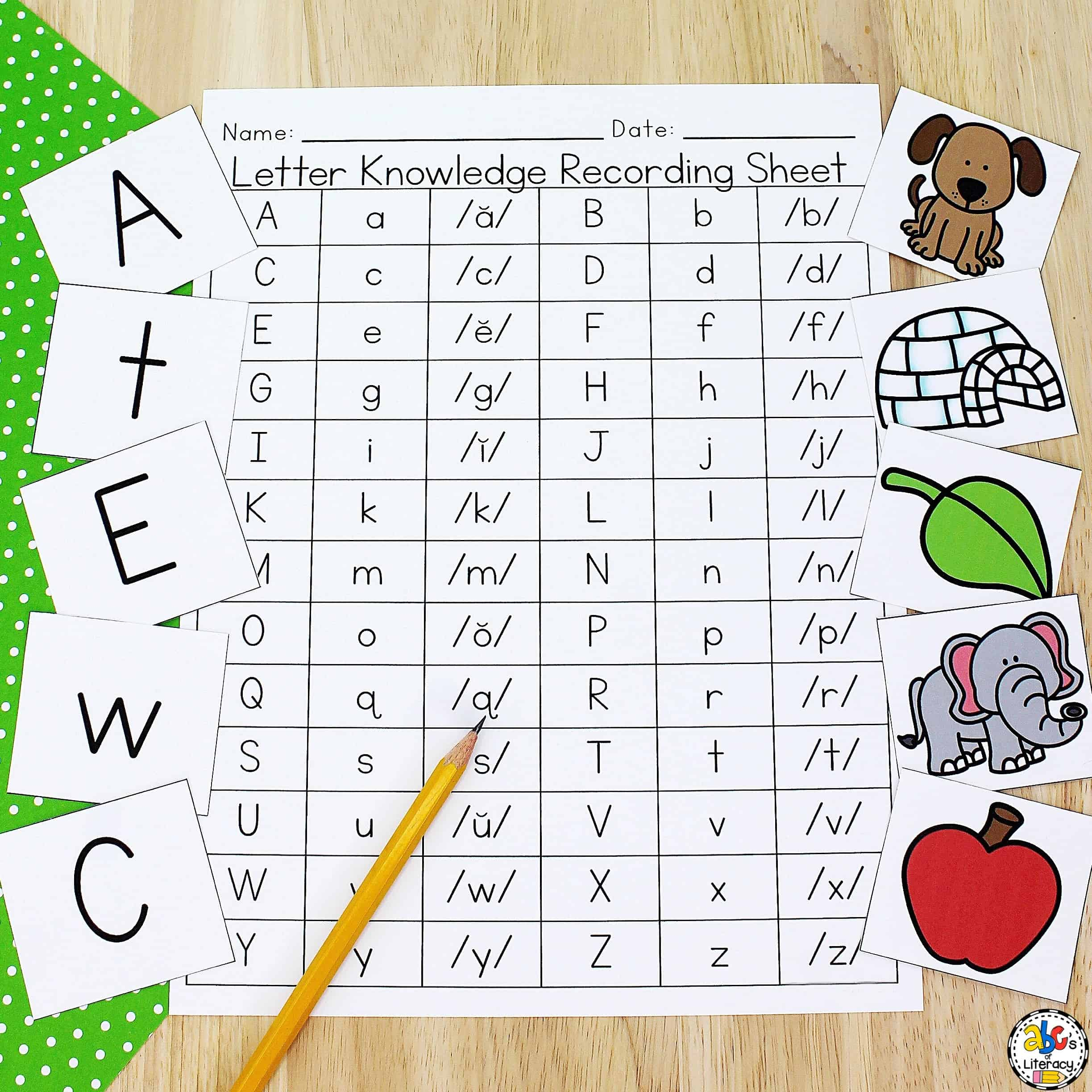 Letter Knowledge Assessment Resource
