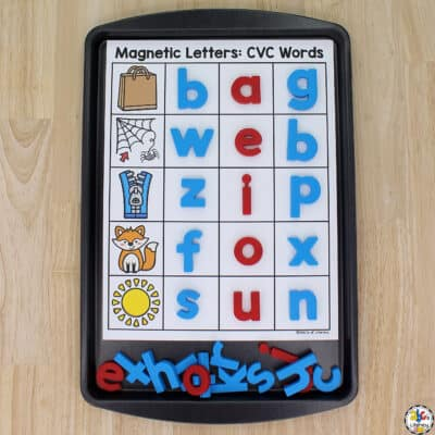 Magnetic Letter CVC Words