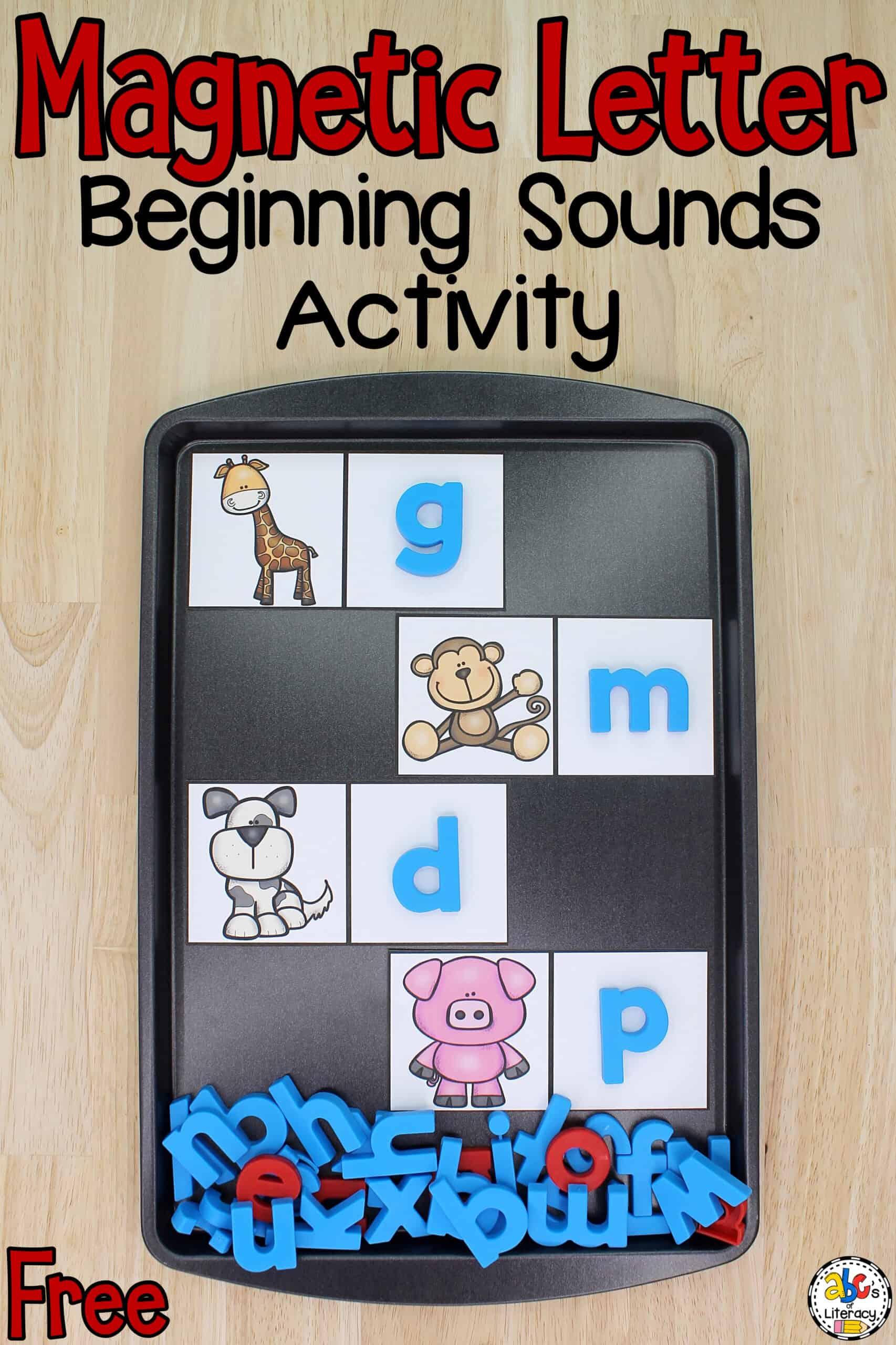 Magnetic Letter Beginning Sounds Activity