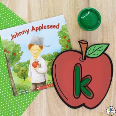 Apple Alphabet Play Dough Mats