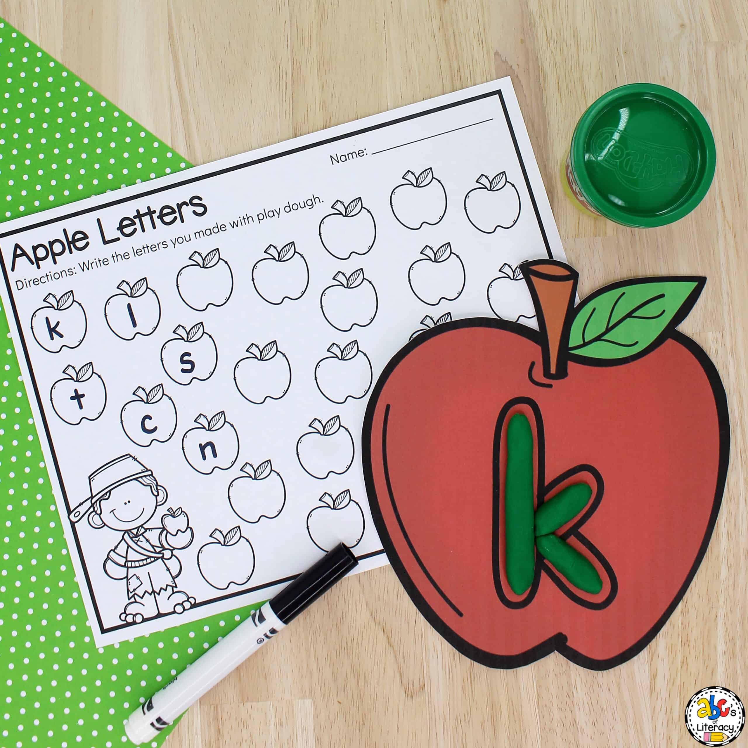 Apple Letter Mats