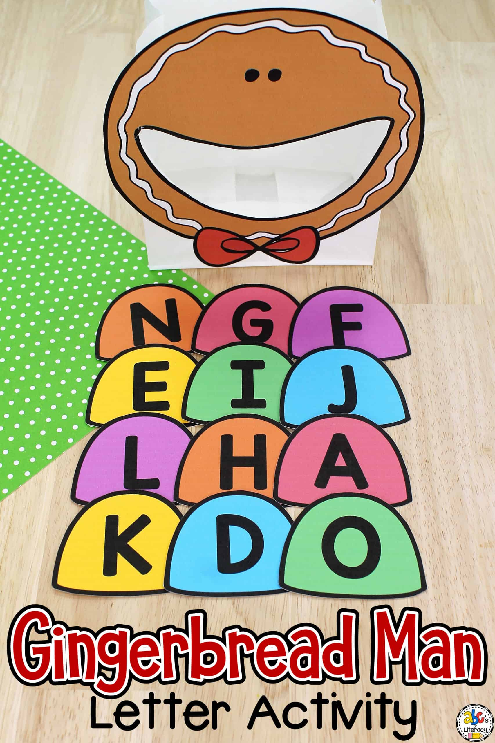 Gingerbread Man Letter Recognition Activity