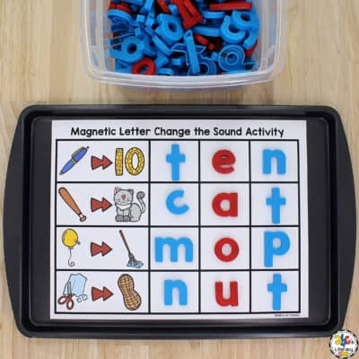 Magnetic Letter Phoneme Substitution Activity